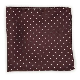 Brown with Polka Dots Pocket Square