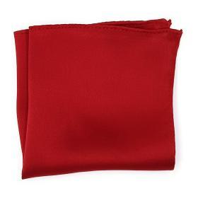 Dark Red Silk Pocket Square