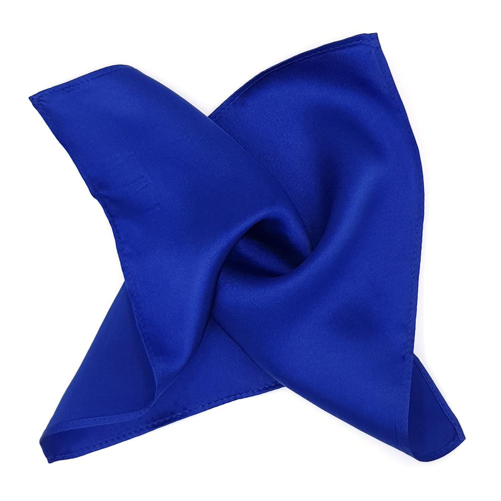 Blue Silk Pocket Square