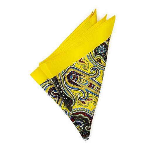 Yellow Paisley Pocket Square