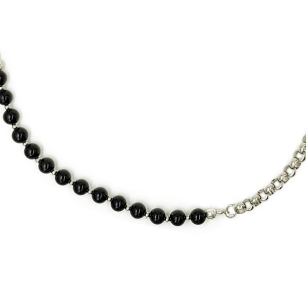 Chain with Black Beads