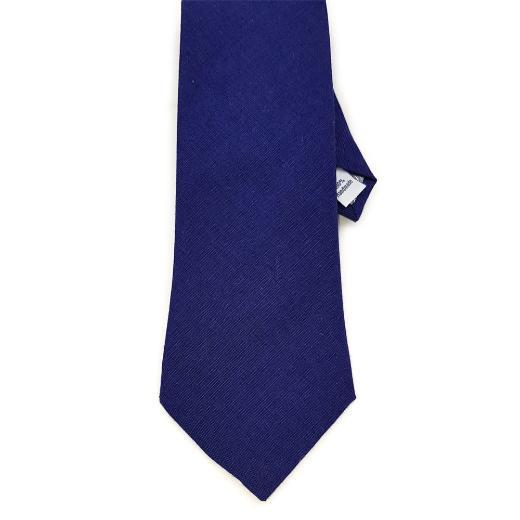 Navy Linen Tie