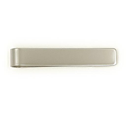 Matte Silver Tie Clip