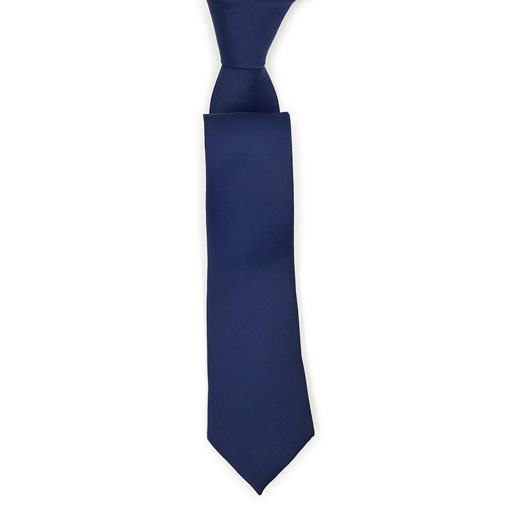 Navy Blue Silk Tie