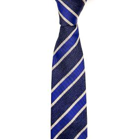 Silk Striped Tie in Blue Tones
