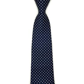 Navy Polka Dot Wide Tie
