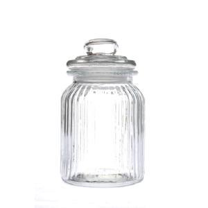 Βάζο Γυάλινο με Καπάκι Διάφανο φ11Χ23εκ AI Decoration 38143