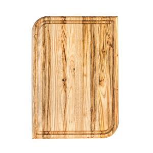 Ξύλινο πιάτο καστανιάς 38×27 με λούκι ΚΑΣ-020178 Rozos