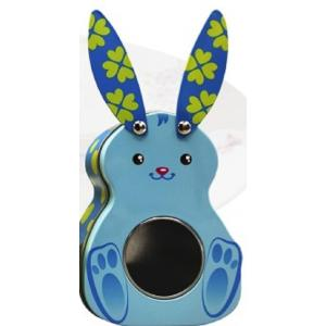 Κουτάκι Μεταλλικό Λαγουδάκι Σε 3 Χρώματα JK Decorations 000.522