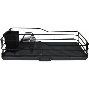 Πιατοθήκη μονή μεταλλική μαύρη 35x25x7cm Estia 01-9618