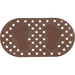 Αντιολισθητικό Πατάκι Μπανιέρας 68x36cm Πατούσες Brown Estia 02-7898