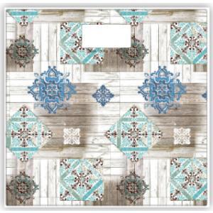 Ψηφιακή Ζυγαριά Μπάνιου Floral Mosaic Estia 02-8772