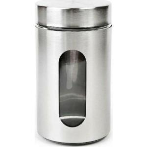 Βάζο Γυάλινο Με Καπάκι Ανοξείδωτο 10x22cm Homestyle  0269005SS-24