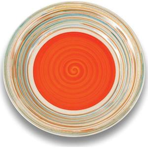 Πιάτο Φρούτου Πορτοκαλί Στρογγυλό 21cm Nava 10-099-003