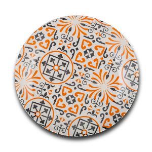 """Πιάτο φρούτου πορσελάνινο """"Maiolica Orange"""" Nava 10-099-132"""