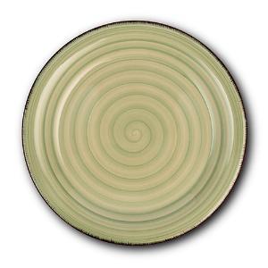 Στρογγυλό Πιάτο Ρηχό Κεραμικό Ø27cm Lines Oil Green Nava 10-099-201