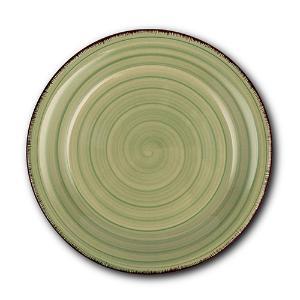 Στρογγυλό Πιάτο Γλυκού Κεραμικό Lines Oil Green Ø19.5cm Nava 10-099-202