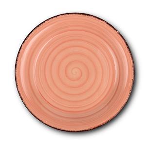 Στρογγυλό Πιάτο Γλυκού Κεραμικό Lines Terra Cotta Ø19.5cm Nava 10-099-212