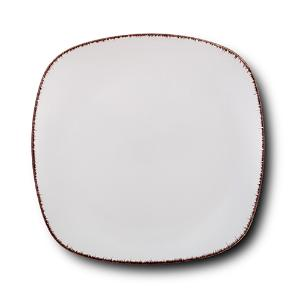 Τετράγωνο Πιάτο Ρηχό Κεραμικό White Sugar 26x26cm Nava 10-099-231