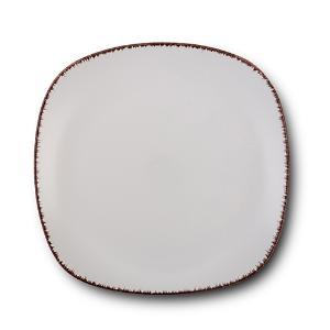 Τετράγωνο Πιάτο Γλυκού Κεραμικό White Sugar 19x19cm Nava 10-099-232