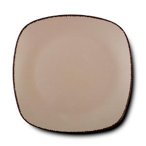 Τετράγωνο Πιάτο Ρηχό Κεραμικό Brown Sugar 26x26cm Nava 10-099-241