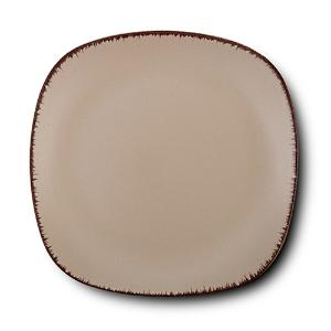 Τετράγωνο Πιάτο Ρηχό Κεραμικό Brown Sugar 19x19cm Nava 10-099-242