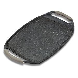 Γκριλιέρα-πιατέλα με αντικολλητική επίστρωση stone 47cm Funtzio Nava 10-144-004