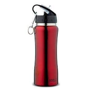 Θερμός μπουκάλι ανοξείδωτο κόκκινο με διπλό τοίχωμα και γάντζο 350ml Acer 10-146-021 Nava