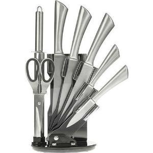 Ατσάλινα μαχαίρια ανοξείδωτα σε ακρυλική βάση σετ 8 τεμαχίων 10-167-020