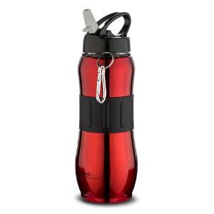"""Μπουκάλι ανοξείδωτο κόκκινο με γάντζο """"Acer"""" 830ml Nava 10-190-031"""