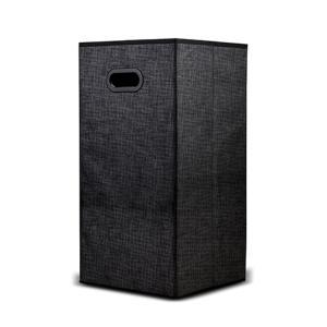 Καλάθι απλύτων Nava τετράγωνο μαύρο 60x30x30cm 10-218-007