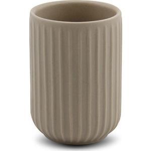 Θήκη για οδοντόβουρτσες stoneware μπεζ 11cm Nava 10-222-011