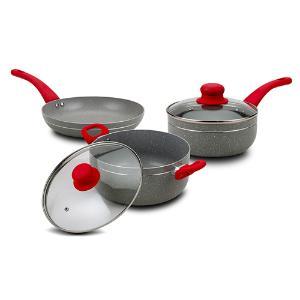 Σετ μαγειρικών σκευών 5 τεμαχίων με αντικολλητική επίστρωση stone Nava 10-256-001