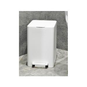 Κάδος Απορριμάτων Wc 7lt Τετράγωνος Softclose Λευκός HomeStyle 104185-6