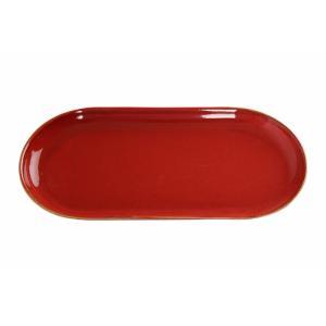 Πιατέλα Οβαλάκι Κόκκινη 31x15εκ. πορσελάνινο  '' Seasons Red Oval Plate'' Porland 118130R