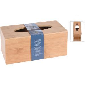 Κουτί Bamboo Για  Χαρτομάντηλα  25x13X11cm JK Home Decoration 119767