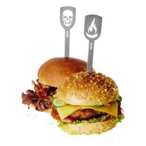 Σούβλα μπέργκερ 2 τεμ. TORRO flame & death's head – GEFU 15430
