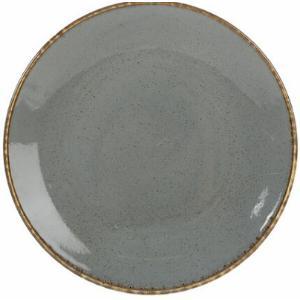 Πιάτο Πορσελάνη Ρηχό Σκούρο Γκρι 24cm Seasons Porland 187624DG
