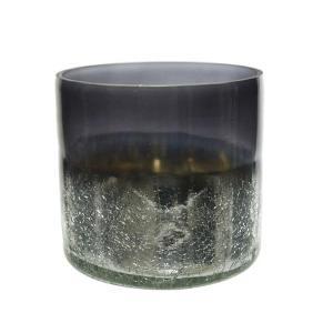 Βάζο Γυάλινο διακοσμητικό crackle σκούρο γκρι 7.5cm 191489 Kaemingk
