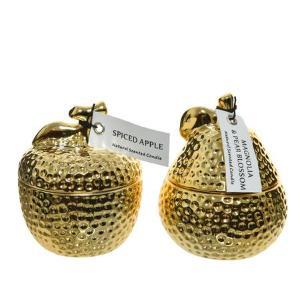 Κερί Αρωματικό κεραμικό χρυσό φρούτο μικρό 205685 Kaemingk