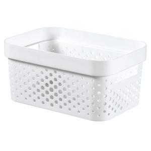 Κουτί Αποθήκευσης Λευκό Infinity Dots 4,5LT 26x18x12cm Curver 21.29626