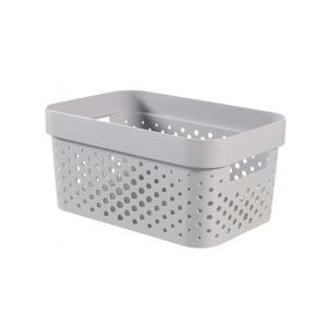 Κουτί Αποθήκευσης Γκρι Infinity Dots 4,5LT 26x18x12cm Curver 21.29630