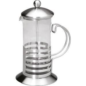 Καφετιέρα γυαλί/inox με έμβολο 600ml  GTSA 22-7160