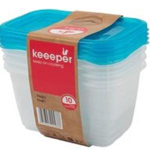 """Φαγητοδοχεία """"Fredo Fresh"""" σετ 4τεμ. 0,75Lt Light Blue No 30673 KEEPER 25092"""