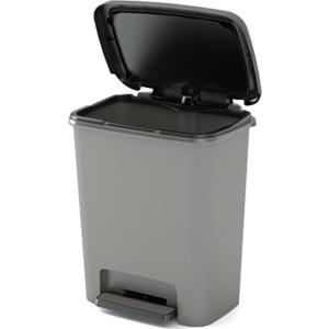 Κάδος Απορριμμάτων Πλαστικός  Compatta Γκρι με Πεντάλ 30lt 38x28x43cm Kis Curver 26.21051