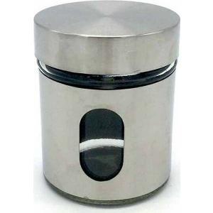 Βάζο Γυάλινο Como Inox Μικρό 8,5x10,5cm Homestyle  2895152113