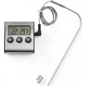 Θερμόμετρο Ψηφιακό 0° έως/to 250°C Με Ακίδα Inox 21cm 271346 Hendi 30.40181