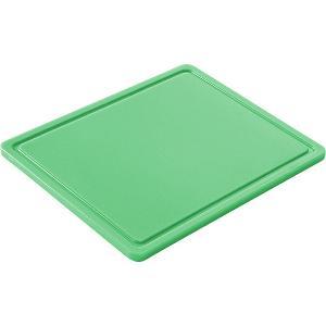 Πλάκα Κοπής Πολυαιθηλενίου Με Αυλάκι Πράσινη 26,5χ32,5εκ. Hendi 826133 30.40701