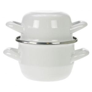 Κατσαρόλα Για Μύδια Λευκή 18εκ. Εμαγιέ Cosy&Trendy Hendi 111.081W 30.80044