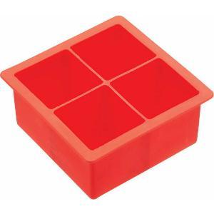 Καλούπι Πάγου Σιλικόνης Κόκκινο 4 Κύβοι 4,5εκ. Barcraft BCICTJUMB Kitchen Craft 35.02607